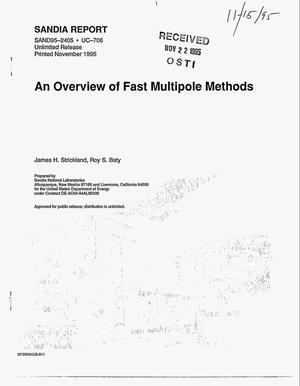 Primary view of object titled 'An overview of fast multipole methods'.