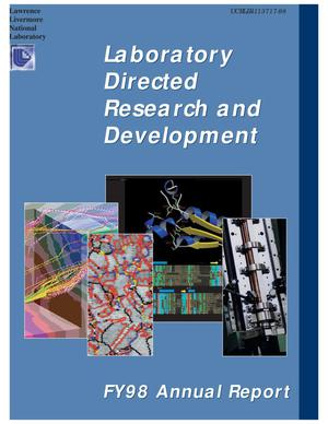 Primary view of object titled 'Laboratory directed research and development FY98 annual report'.