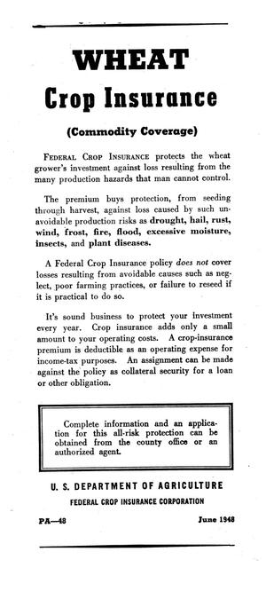 Wheat crop insurance : (commodity coverage)
