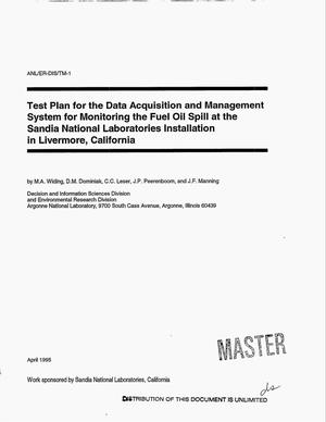 Primary view of object titled 'Test plan for the data acquisition and management system for monitoring the fuel oil spill at the Sandia National Laboratories installation in Livermore, California'.