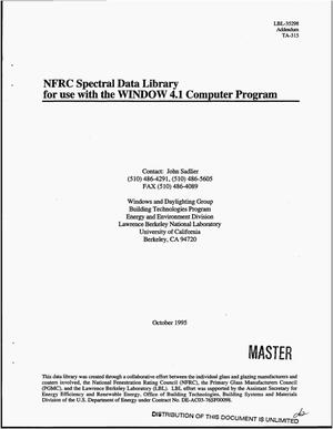 Primary view of object titled 'NFRC spectral data library for use with WINDOW 4.1 computer program'.