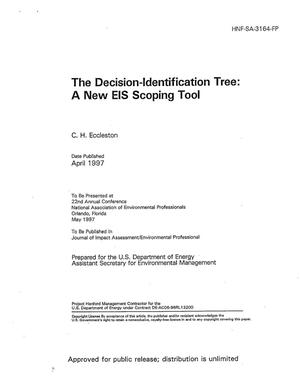 Primary view of object titled 'The decision - identification tree: A new EIS scoping tool'.