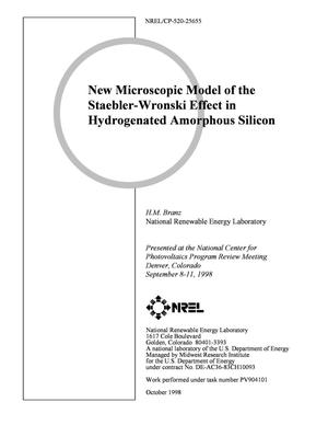 Primary view of object titled 'New Microscopic Model of the Staebler-Wronski Effect in Hydrogenated Amorphous Silicon'.
