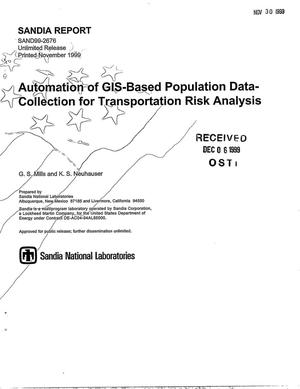 Primary view of object titled 'Automation of GIS-Based Population Data-Collection for Transportation Risk Analysis'.
