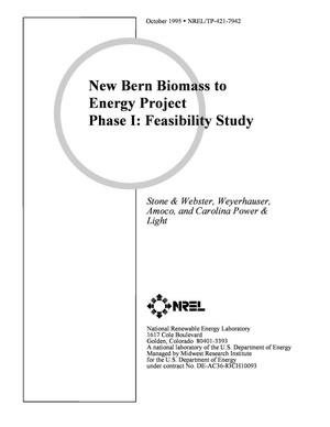 Primary view of object titled 'New bern biomass to energy project Phase I: Feasibility study'.