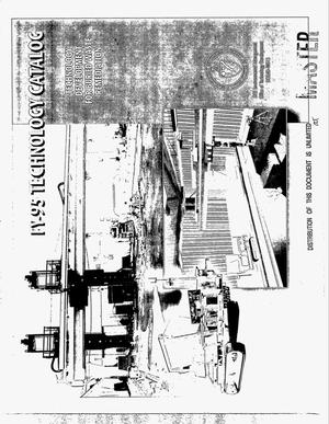 Primary view of object titled 'FY-95 technology catalog. Technology development for buried waste remediation'.