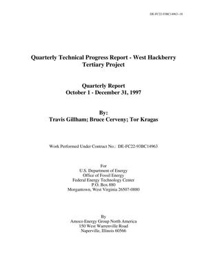 Primary view of object titled 'Quarterly Technical Progress Report - West Hackberry Tertiary Project'.