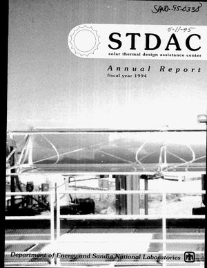 Primary view of object titled 'STDAC: Solar Thermal Design Assistance Center annual report fiscal year 1994'.