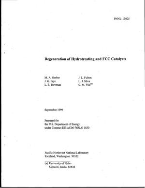 Primary view of object titled 'Regeneration of Hydrotreating and FCC Catalysts'.