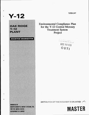 Primary view of object titled 'Environmental Compliance Plan for the Y-12 Central Mercury Treatment System project'.