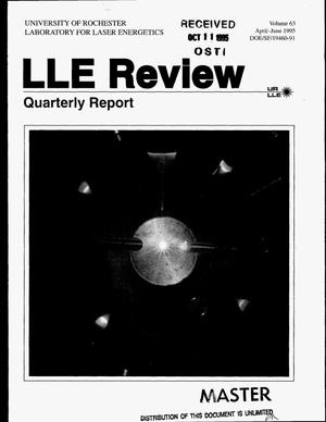 Primary view of object titled 'LLE Review: Volume 63. Quarterly report, April--June 1995'.