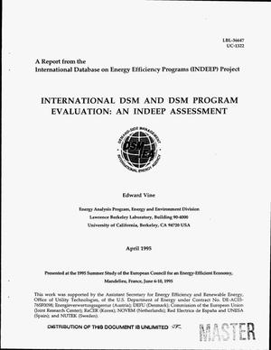 Primary view of object titled 'International DSM and DSM program evaluation: An INDEEP assessment'.