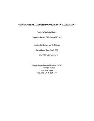 Primary view of object titled 'USDOE/EPRI BIOMASS COFIRING COOPERATIVE AGREEMENT'.