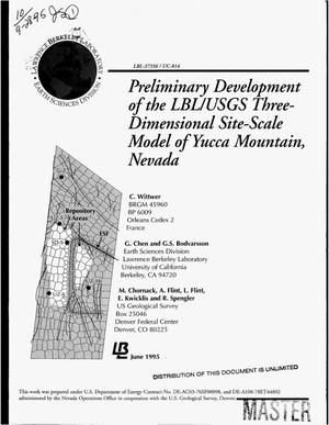 Primary view of object titled 'Preliminary development of the LBL/USGS three-dimensional site-scale model of Yucca Mountain, Nevada'.