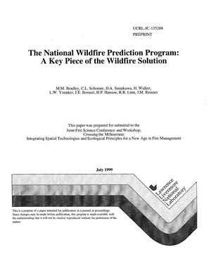 Primary view of object titled 'The national wildfire prediction program: a key piece of the wildfire solution'.