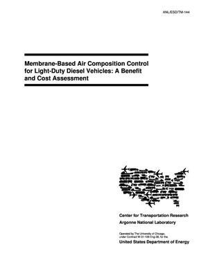 Primary view of object titled 'Membrane-based air composition control for light-duty diesel vehicles : a benefit and cost assessment.'.