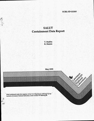 Primary view of object titled 'SALUT: Containment data report'.