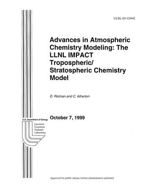 Primary view of object titled 'Advances in atmospheric chemistry modeling: the LLNL impact tropospheric/stratospheric chemistry model'.