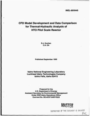 Primary view of object titled 'CFD model development and data comparison for thermal-hydraulic analysis of HTO pilot scale reactor'.