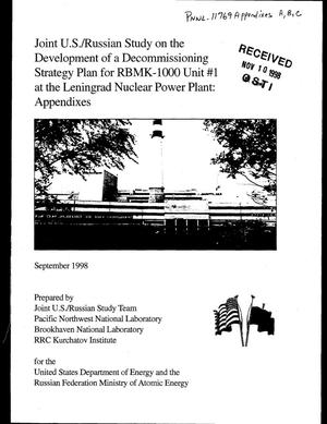 Primary view of object titled 'Appendix A - A Summary of the Shutdown and Decommissioning Experience for Nuclear Power Plants in the United States and the Russian Federation. Appendix B - A Summary of the Regulatory Environment for the Shutdown and Decommissioning of Nuclear Power Plants in the United States and the Russian Federation. Appendix C - Recommended Outlines for Decommissioning Documentation'.