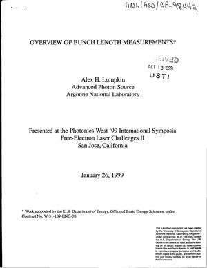 Primary view of object titled 'Overview of bunch length measurements.'.