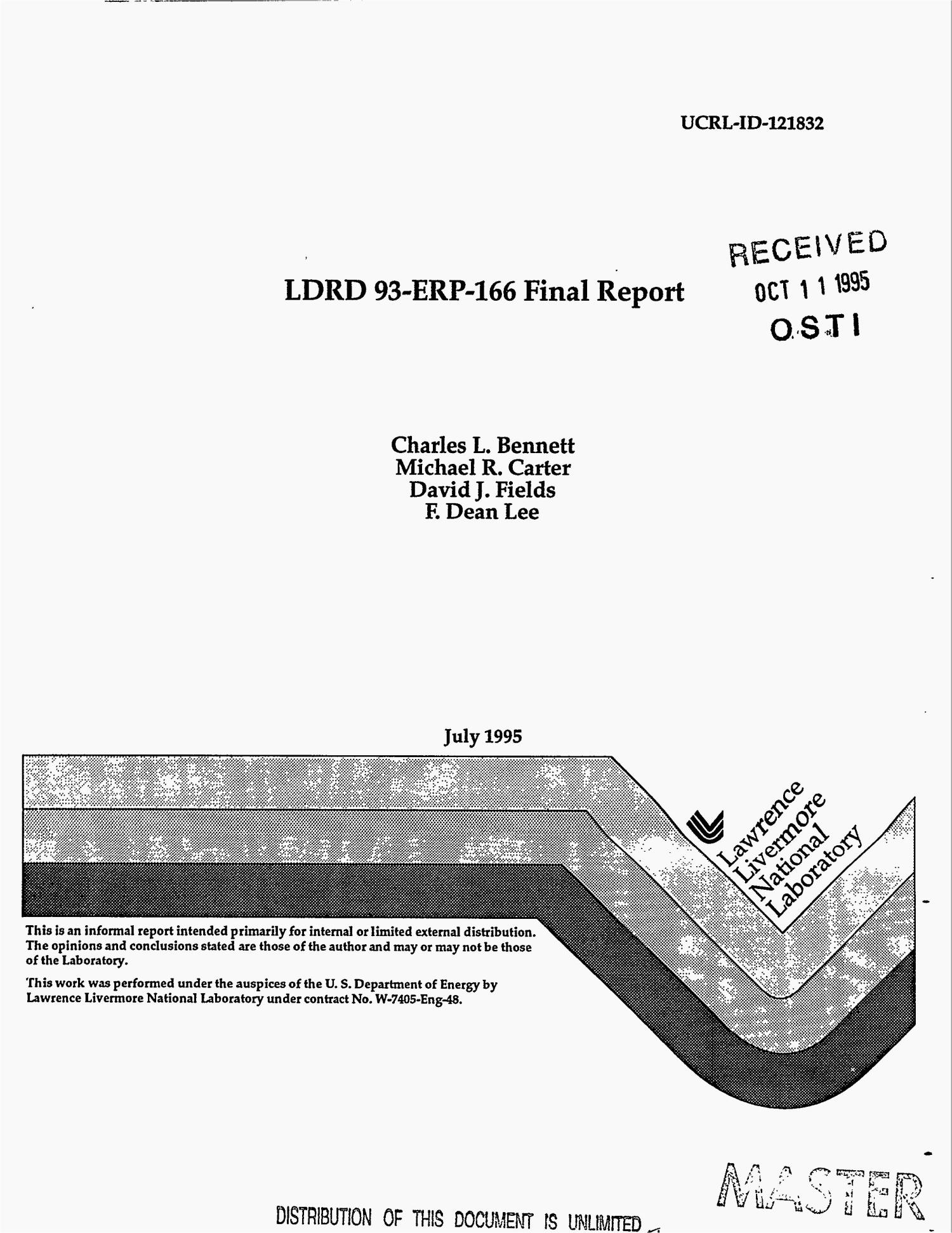 LDRD 93-ERP-166 Final report                                                                                                      [Sequence #]: 1 of 13