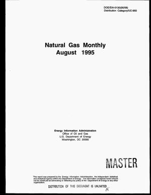 Primary view of object titled 'Natural gas monthly, August 1995'.