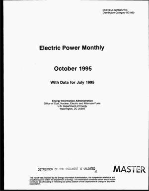 Primary view of object titled 'Electric power monthly: October 1995, with data for July 1995'.
