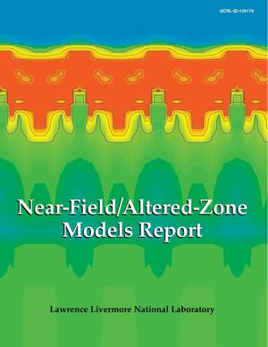 Primary view of object titled 'Near-field/altered-zone models report'.