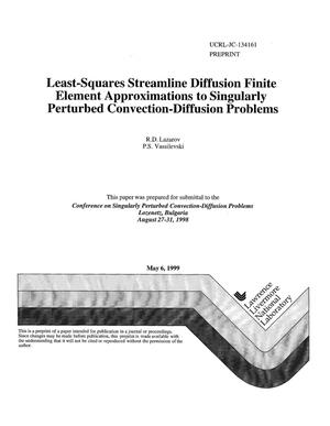 Primary view of object titled 'Least-squares streamline diffusion finite element approximations to singularly perturbed convection-diffusion problems'.