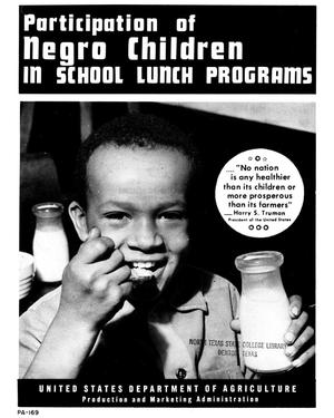 Primary view of object titled 'Participation of Negro children in school lunch programs.'.