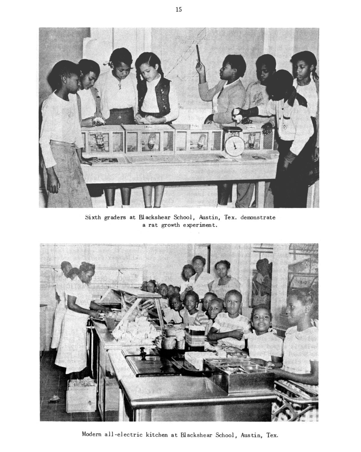 Participation of Negro children in school lunch programs.                                                                                                      15