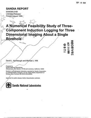 Primary view of object titled 'A Numerical Feasibility Study of Three-Component Induction Logging for Three Dimensional Imaging About a Single Borehole'.