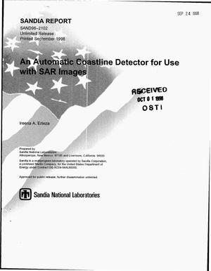 Primary view of object titled 'An automatic coastline detector for use with SAR images'.