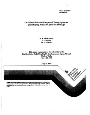 Primary view of object titled 'Dual-band infrared computed tomography for quantifying aircaft corrosion damage'.