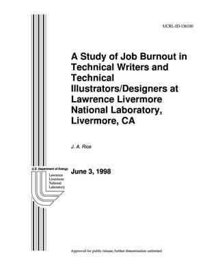 Primary view of object titled 'Study of job burnout in technical writers and technical illustrators/designers at LLNL'.