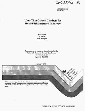 Primary view of object titled 'Ultra-thin carbon coatings for head-disk interface tribology'.