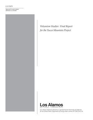 Primary view of object titled 'Volcanism Studies: Final Report for the Yucca Mountain Project'.