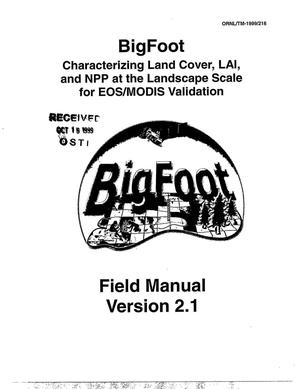 Primary view of object titled 'Bigfoot Field Manual, Version 2.1'.