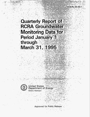 Primary view of object titled 'Quarterly report of RCRA groundwater monitoring data for period January 1--March 31, 1995'.