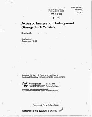 Primary view of object titled 'Acoustic imaging of underground storage tank wastes'.