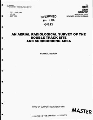 Primary view of object titled 'An aerial radiological survey of the Double Track Site and surrounding area, Central Nevada. Date of survey: December 1993'.