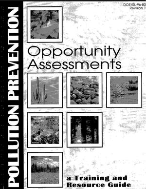 Primary view of object titled 'Pollution prevention opportunity assessments, a training and resource guide'.