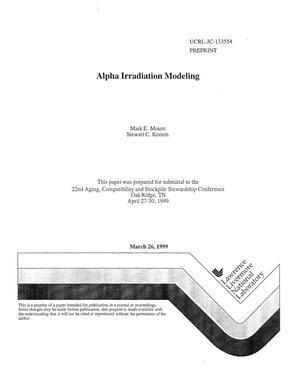 Primary view of object titled 'Alpha irradiation modeling'.
