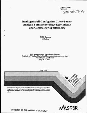 Primary view of object titled 'Intelligent self-configuring client-server analysis software for high-resolution X and gamma-ray spectrometry'.