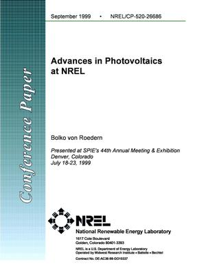 Primary view of object titled 'Advances in Photovoltaics at NREL'.