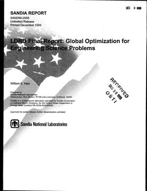 Primary view of object titled 'LDRD Final Report: Global Optimization for Engineering Science Problems'.