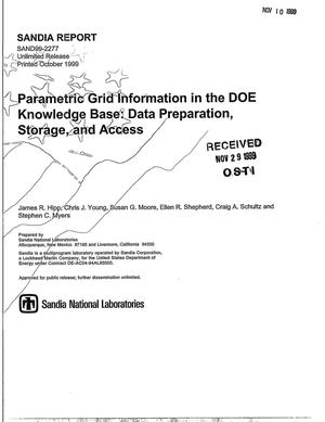 Primary view of object titled 'Parametric Grid Information in the DOE Knowledge Base: Data Preparation, Storage, and Access'.