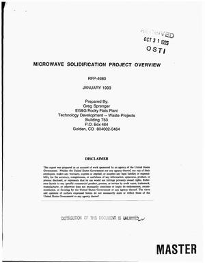 Primary view of object titled 'Microwave solidification project overview'.