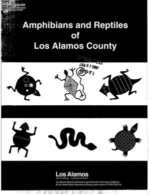 Primary view of object titled 'Amphibians and Reptiles of Los Alamos County'.